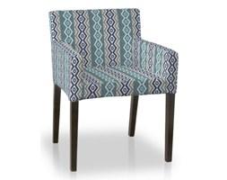 Dekoria Sukienka na krzesło Nils, turkusowo-szaro-granatowa mozaika, krzesło Nils, Mosaik/Oslo/Miranda