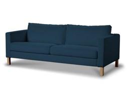 Dekoria Pokrowiec na sofę Karlstad rozkładaną, krótki, Ocean Blue (morski niebieski), Sofa Karlstad 3-os rozkładana, Cotton Panama
