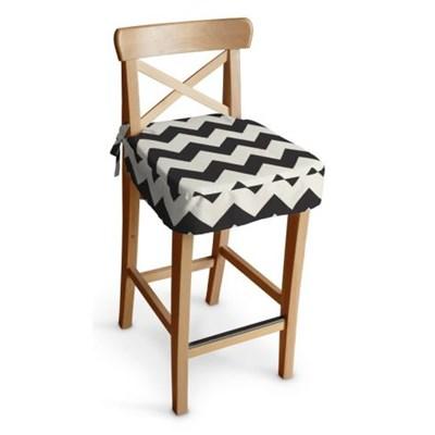 Dekoria Siedzisko na krzesło barowe Ingolf, czarno-białe zygzaki, krzesło barowe Ingolf, Comics