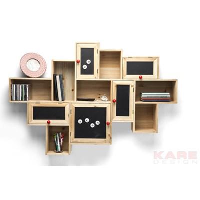 Kare Design Schools Out Półka Ścienna Drewno Żelazo Tablica 5 Drzwi  - 79556