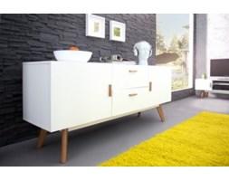 Komoda Jula White 160 cm biała styl skandynawski