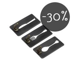 Wieszaczki kuchenne - nóż, widelec, łyżka