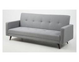 Sofa Leone Grey rozkładana sofa pikowana szara z drewnianymi nogami nowoczesna