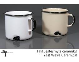"""2 Kubki """"Jestem z Ceramiki"""" - 1 Biały, 1 Kremowy (N)"""