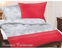 Komplet pościeli satynowej Gold Line Florence Czerwona 160x200