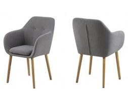 Krzesło Roxi Grey nowoczesne w stylu skandynawski szare