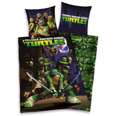 Komplet pościeli dziecięcej: poszwa na kołdrę + poszewka na poduszkę, Żółwie Ninja