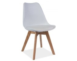 Krzesło KRIS, dąb / biały