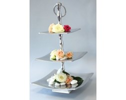 Silver tiered cake stand JOWDE