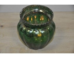 Glass candle holder in green - 3 SVGR3