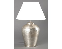 Lampa stołowa z mosiądzu srebrna