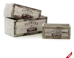 Komplet pojemników Aluro - Floro - Flowers & Garden - prostokątne