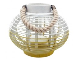 Lampion Sunny 28x28x23, biało-żółty