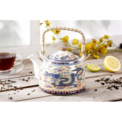 Dzbanek ceramiczny z zaparzaczem CHI�SKI SMOK 0,8 l - rabat 10 z� na pierwsze zakupy!