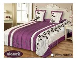 Narzuta na łóżko fioletowa 240/260 cm