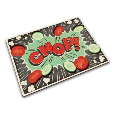 Deska do krojenia szklana JOSEPH JOSEPH COMIC CHOP 30 x 40 cm - rabat 10 zł na pierwsze zakupy!