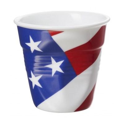 Kubek gnieciony do espresso porcelanowy REVOL FROISSEE FLAGA USA 80 ml - rabat 10 zł na pierwsze zakupy!