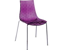 Krzesło Olle Insp. Calligaris, fioletowe