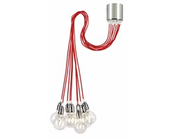 MORE lampa wisząca 9 x 60W E27 ( przewód czerwony)