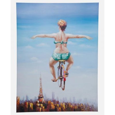 Obraz Touched Bicycle Girl Kare Design 35202