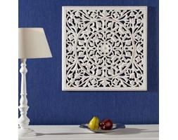 Dekoria Dekoracja Rozeta na ścianę biała 58x58cm, 58x58cm