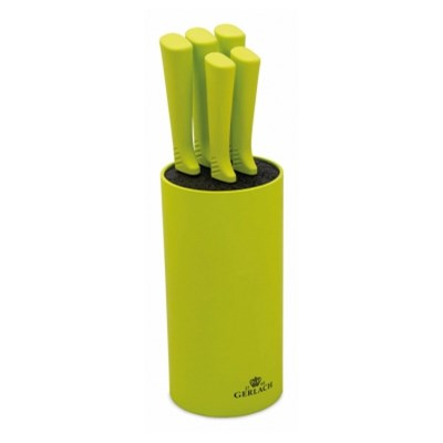 Zestaw 5 noży kuchennych w zielonym bloku GERLACH 994 -- zielony - rabat 10 zł na pierwsze zakupy!