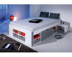 Łóżko Mikar 140 x 200 cm, biały/szary