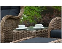 Miloo :: Stół ogrodowy Sienna Relax ze szklanym blatem - brąz