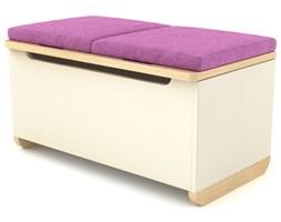 Skrzynia na zabawki SIMPLE z poduszkami - Różowy