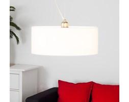 Biała lampa wisząca LED GALA z materiału