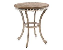 Drewniany-metalowy stolik