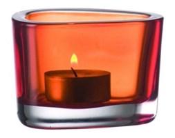 Świecznik szklany LEONARDO ORGANIC POMARAŃCZOWY -- pomarańczowy - rabat 10 zł na pierwsze zakupy!