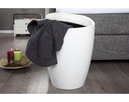 Kosz na pranie Pearl z siedziskiem - biały