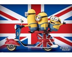 Minionki na skuterze Wielka Brytania - plakat