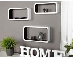 Invicta Interior Półki Club Cube SMALL (3/Set) czarno-białe - i22563