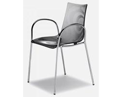 Krzesło Zebra I transparentne szare SCAB Design 2600-183