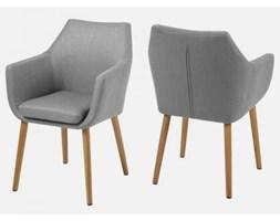 Krzesło Nora szare tkanina nogi drewniane Actona 0000060350