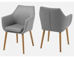 Krzesło Nora szare tkanina nogi dewniane Actona 0000060350