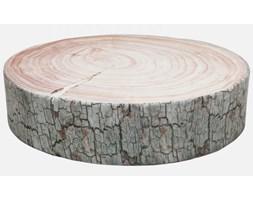 Poduszka Podłogowa Tree Ring brązowo-biała Kare Design 37326