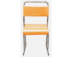 Krzesło School brązowo-chromowe Kare Design 78293