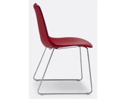 Krzesło Zebra Pop II czerwone skóra naturalna Machina Meble 2641-CN-81