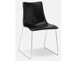 Krzesło Zebra Pop II czarne skóra naturalna SCAB Design 2641-CN-84