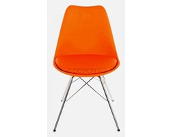 Krzesło Gina Porgy pomarańczowe nogi chromowe Tenzo GinaPorgy-P-CH