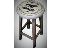 Uroczy stołek drewniany 57x27x27