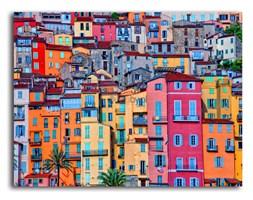 Sale, Kolorowe zabudowania, Obraz na płótnie - Canvas