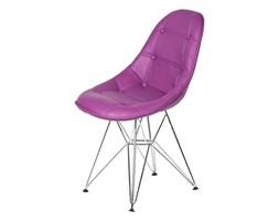 Krzesło King Bath Eames EPC DSR ekoskóra fioletowa purpura kod: LI-KK-132PU.M.FIOLETOWY