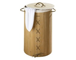 Bambusowy kosz na pranie, jasny brąz, 55 litrów, WENKO