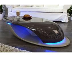 Stolik kawowy Wave LED brązowy