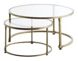 Zestaw dwóch szklanych stolików