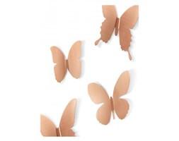 Umbra Dekoracja Ścienna Mariposa (9/Set) miedziana - 470789-880